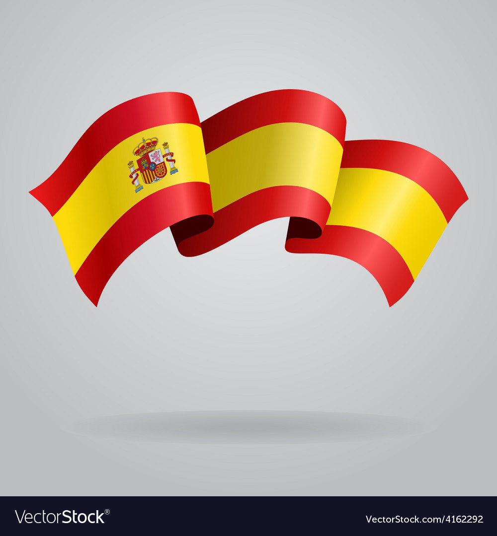 Spanish waving flag vector