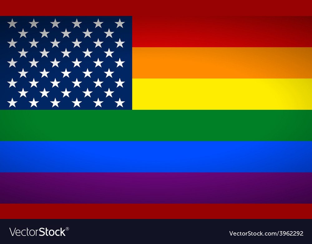 United states gay flag vector