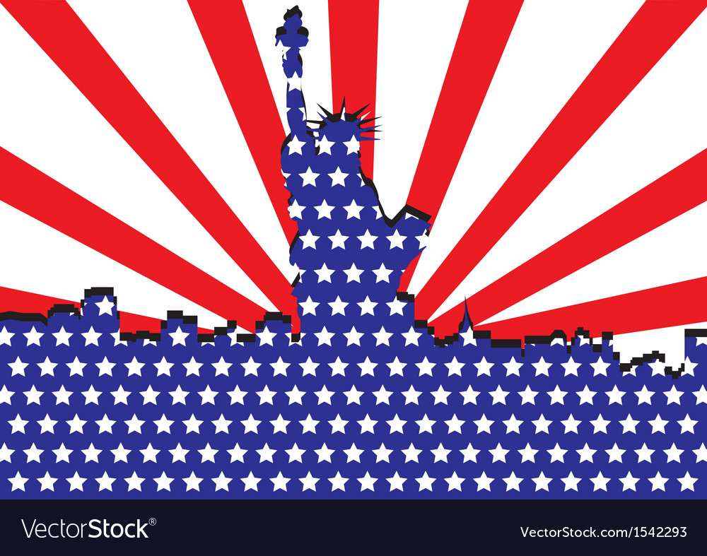 America liberty or 4th of july independent day vector
