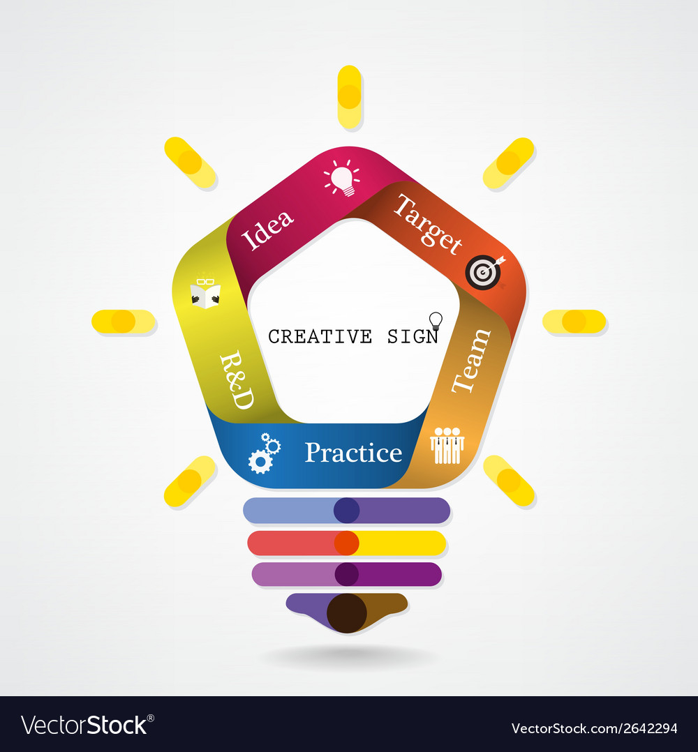 Creative infographics light bulb idea concept vector