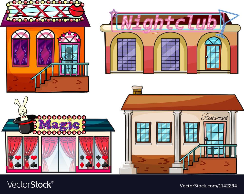 Entertainment venue vector