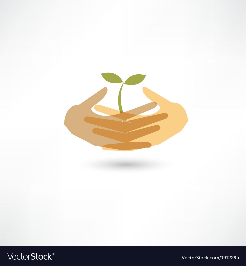Nature care icon vector