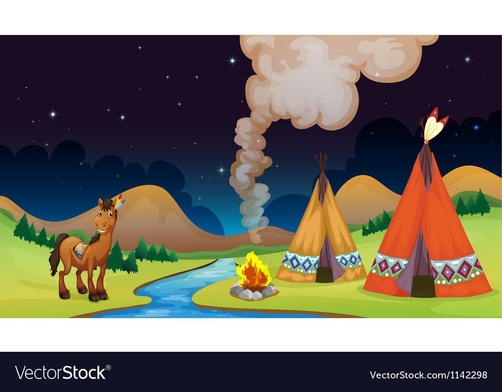 Overnight camp vector