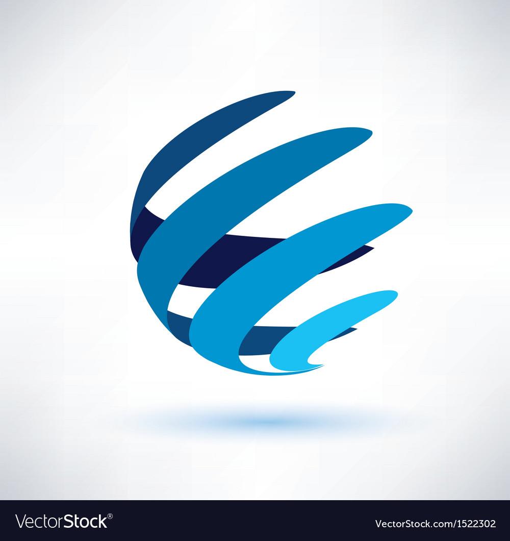 Abstract globe symbol vector