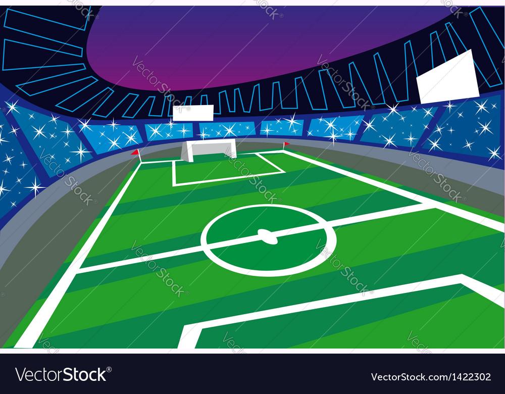 Soccer stadium perspective vector