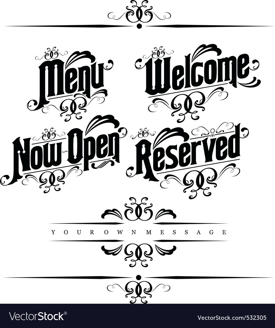 Classical restaurant decorativ vector