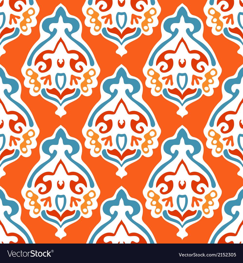 Damask seamless abstract design vector