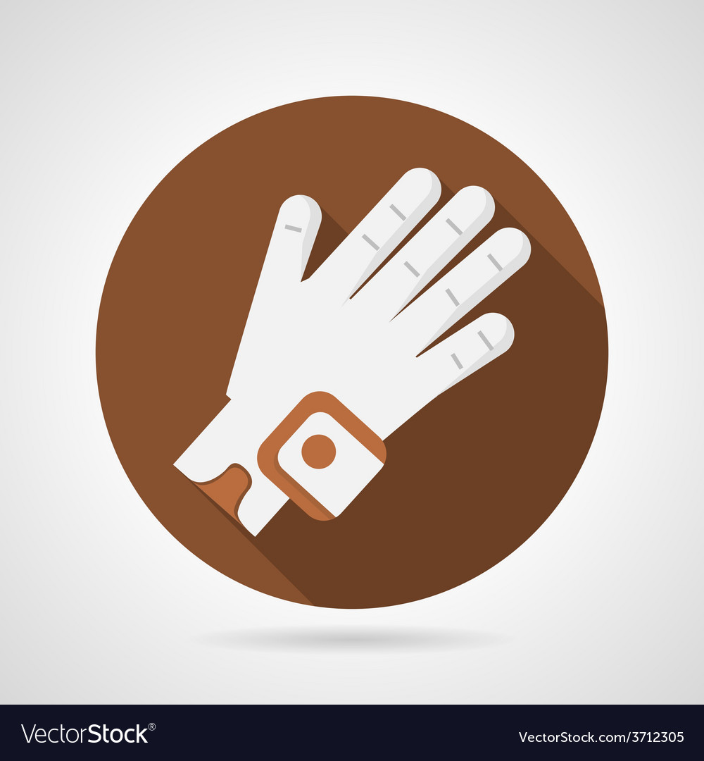 Sport glove flat icon vector