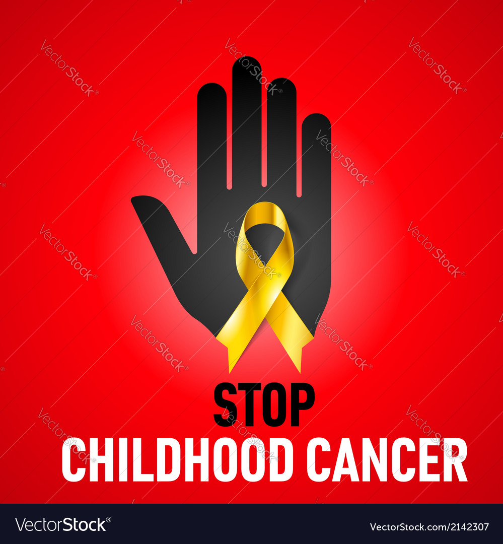 Stop childhood cancer sign vector