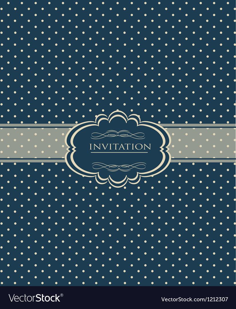 Vintage background for invitation card vector