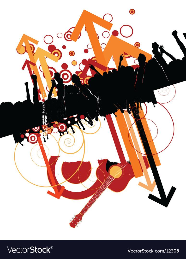 Urban music design vector