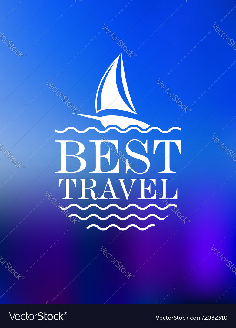 Yachting symbol with travel header vector