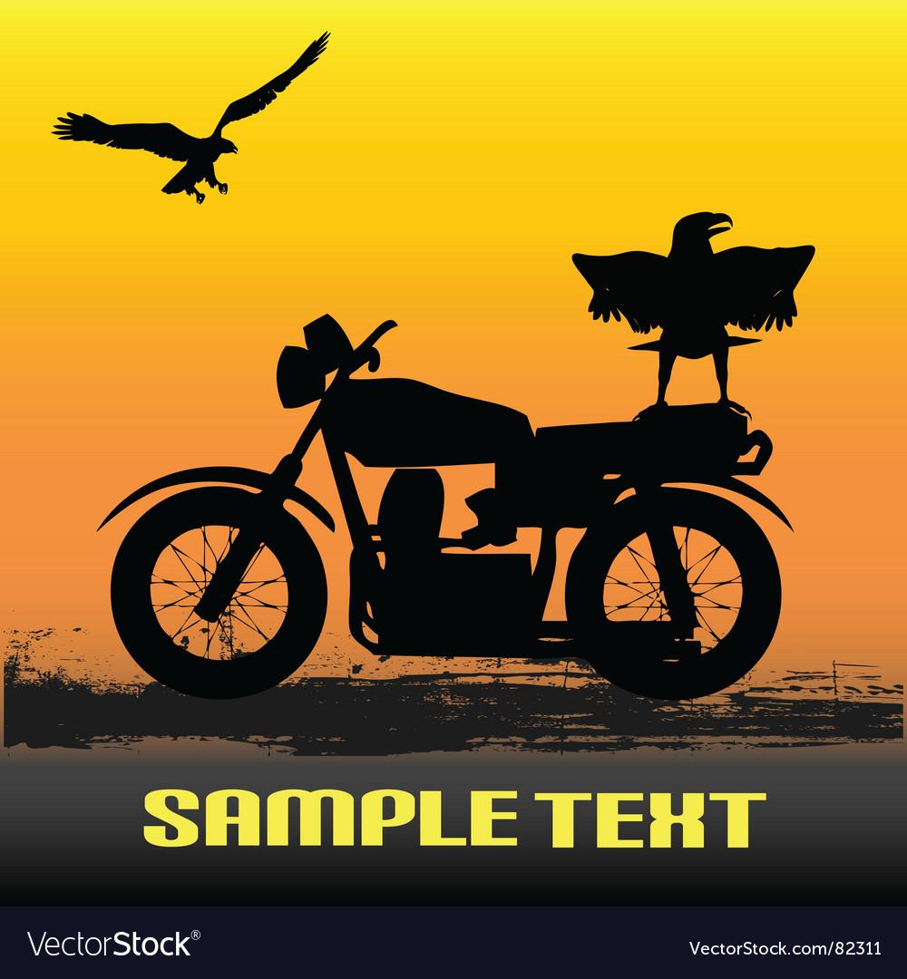 Motorcycle dawn vector