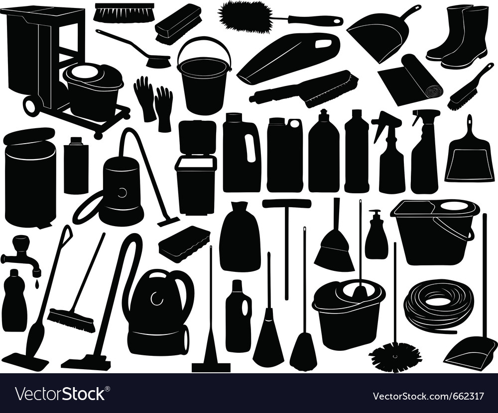Cleaning objects vector