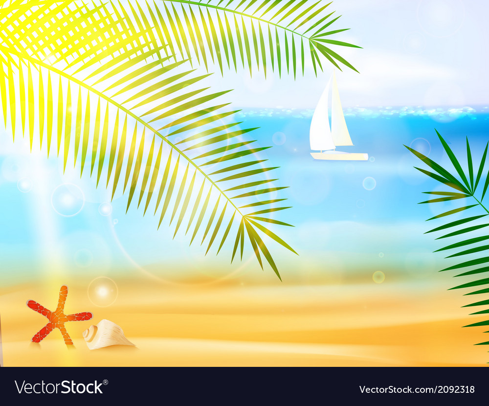 Travel and summer holidays vector