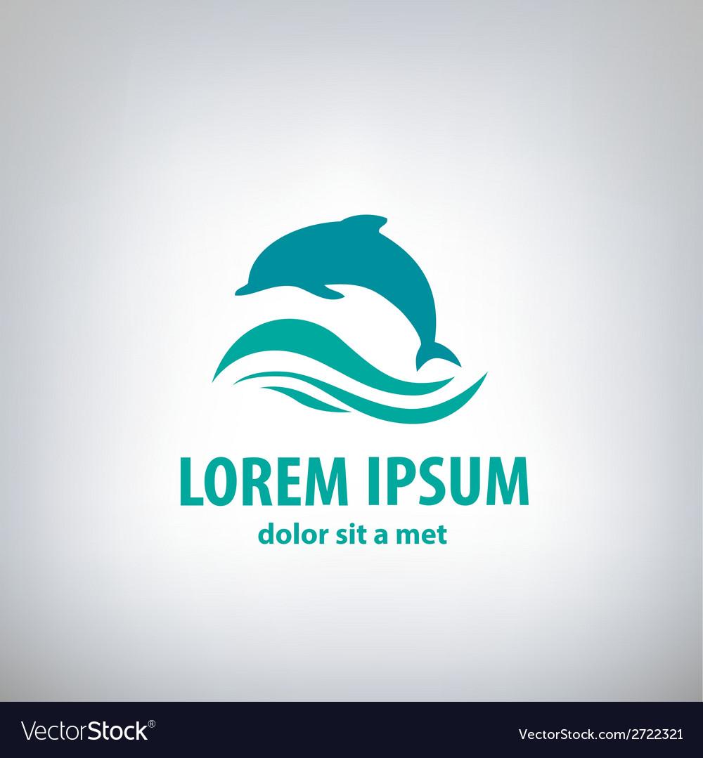 Dolphin icon design element vector