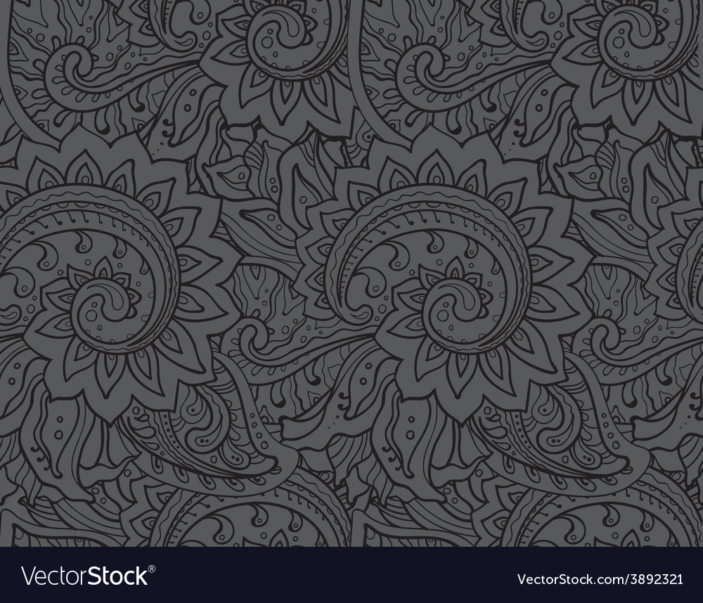 Seamless pattern with traditional oriental vector