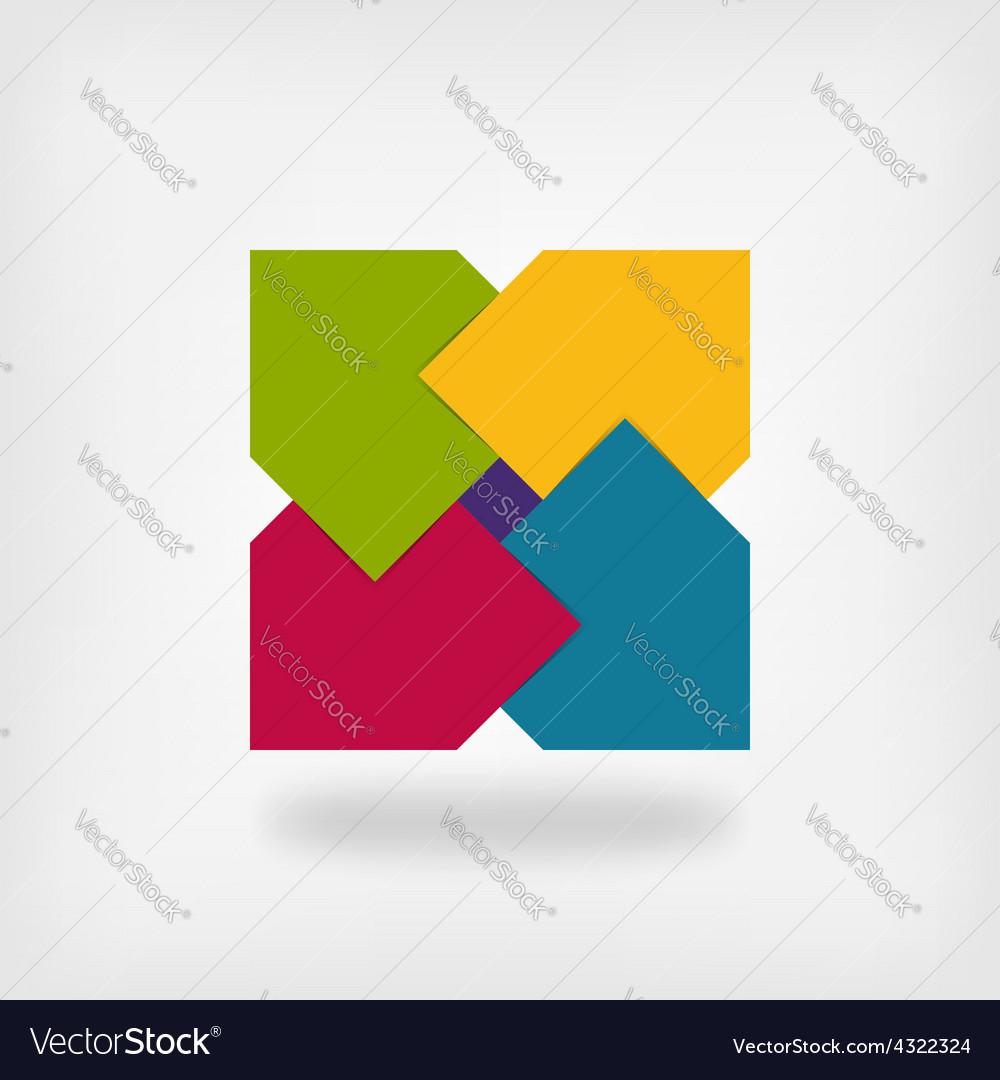 Colored square logo symbol vector
