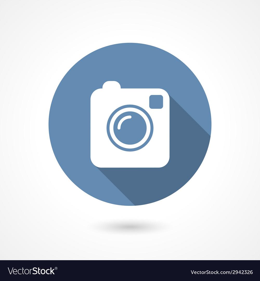 Instagram camera icon vector