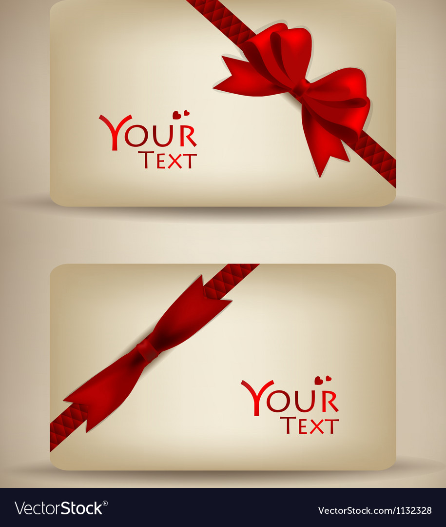 Gift cards collection vector