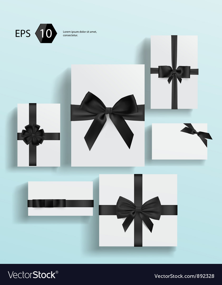 Gift wrapping collection vector