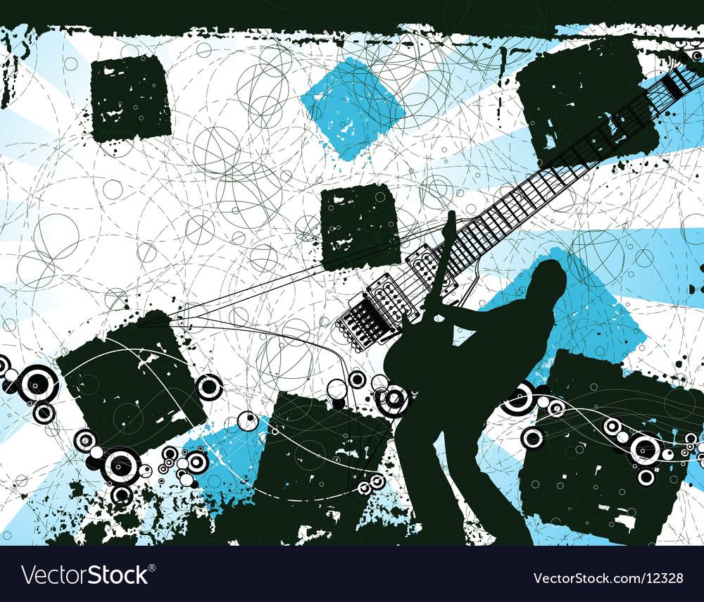 Grunge rocker illustration vector