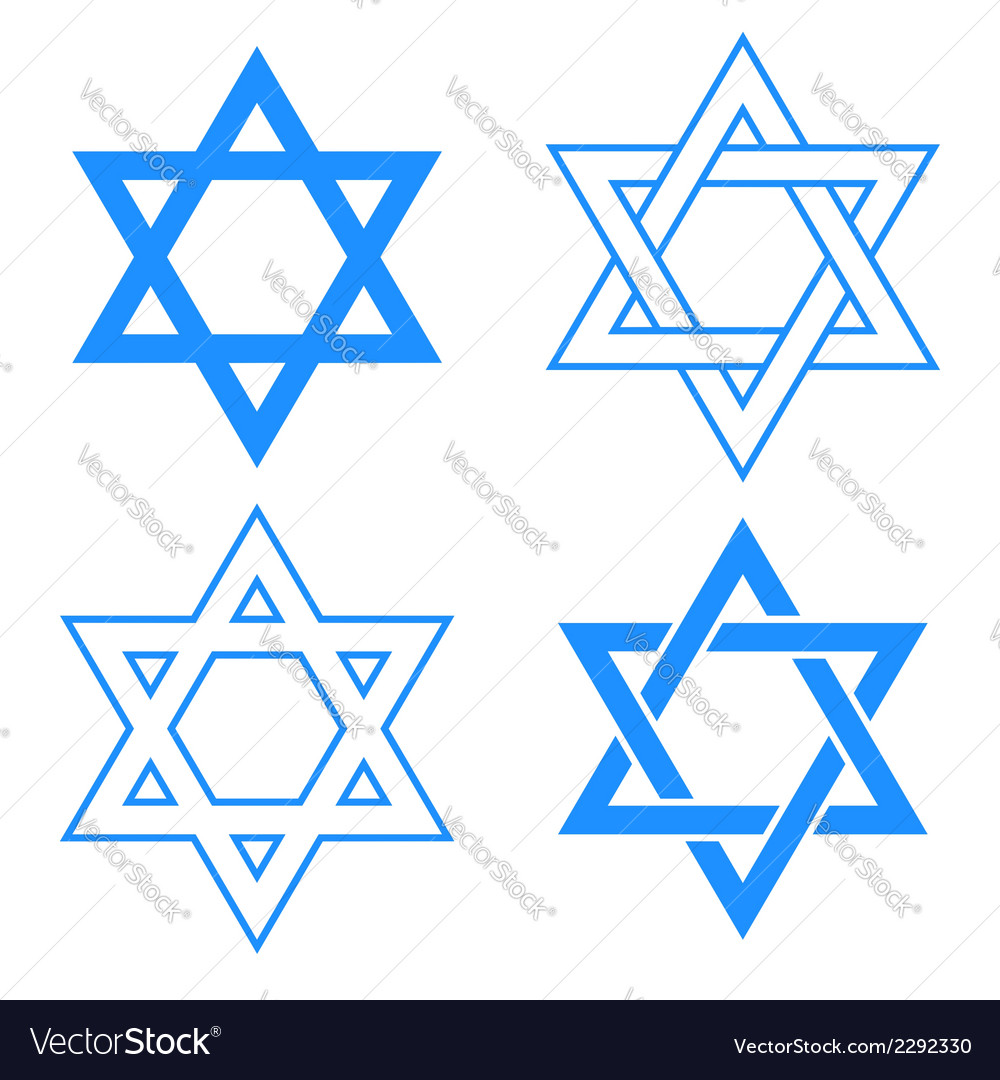 Star of david symbol vector