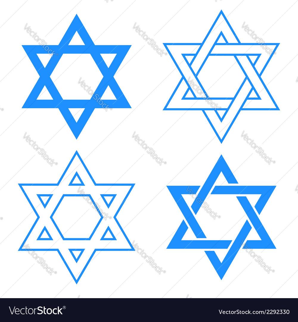 Star of david symbol vector