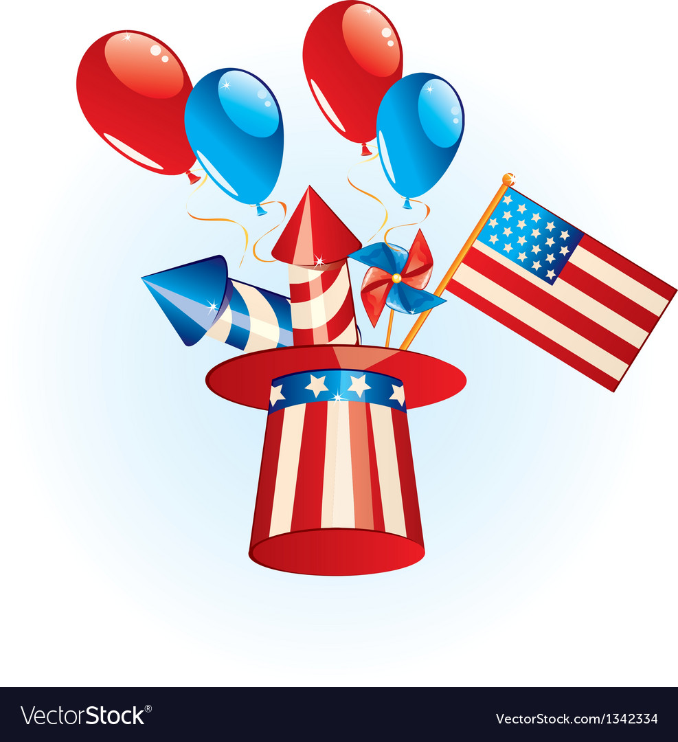 4th july independence day vector