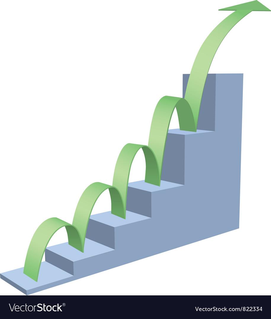 Arrow business chart vector