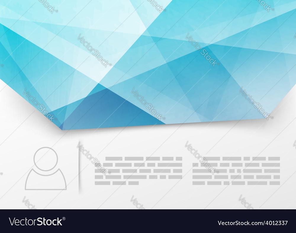 Modern blue crystal print booklet template vector