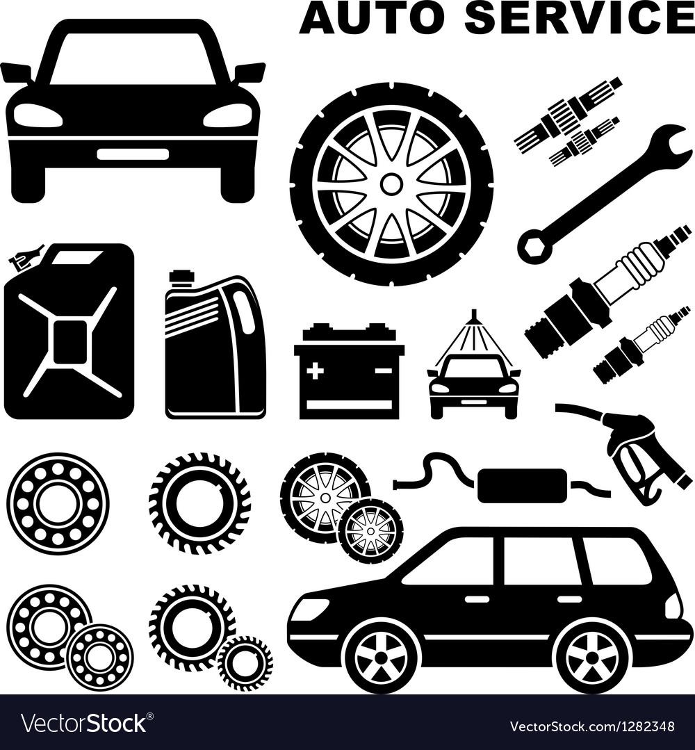 Car repair service icon vector