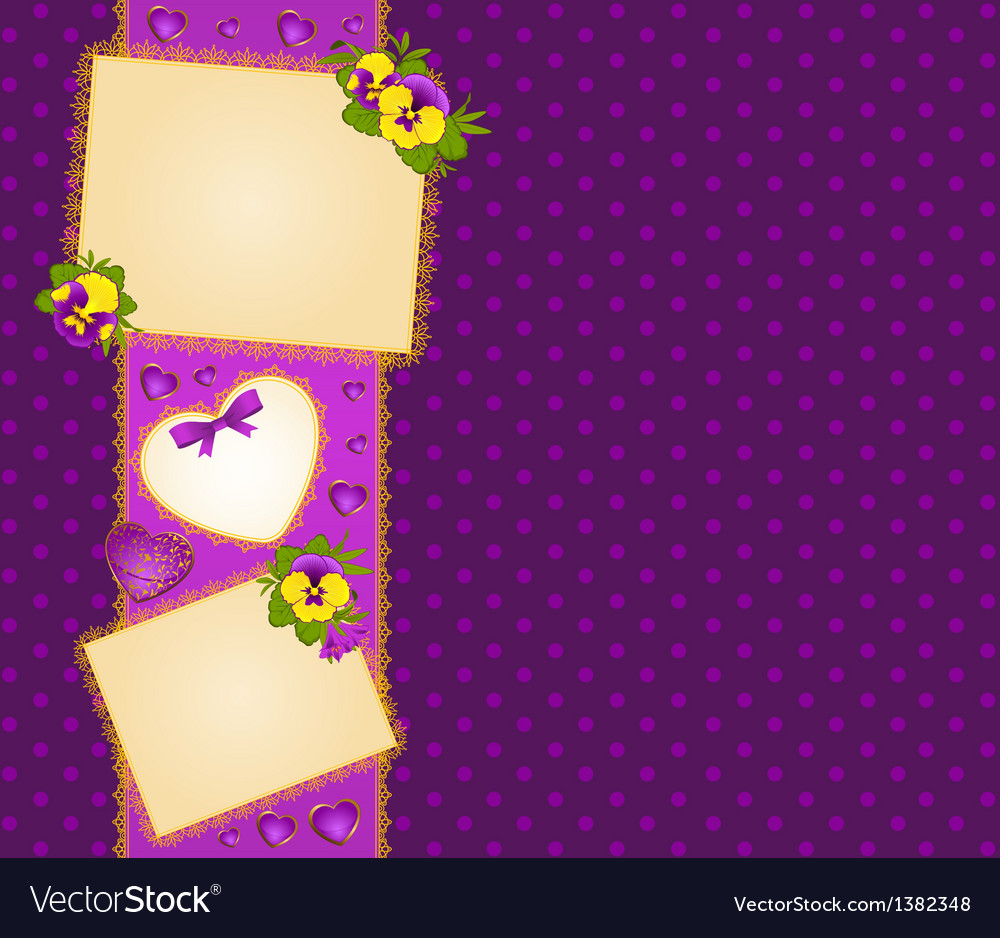 Ornate floral frame background vector