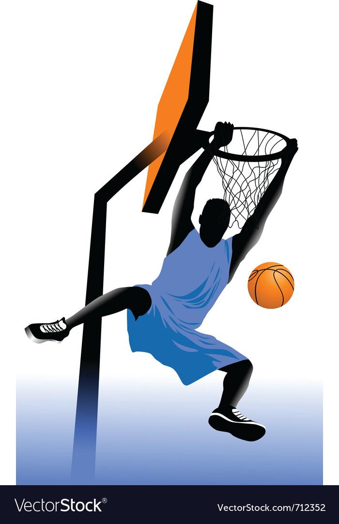 Basketball players vector