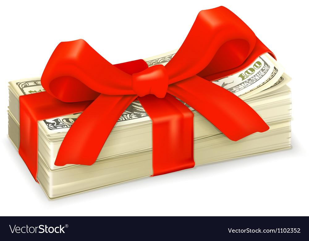 Money gift vector
