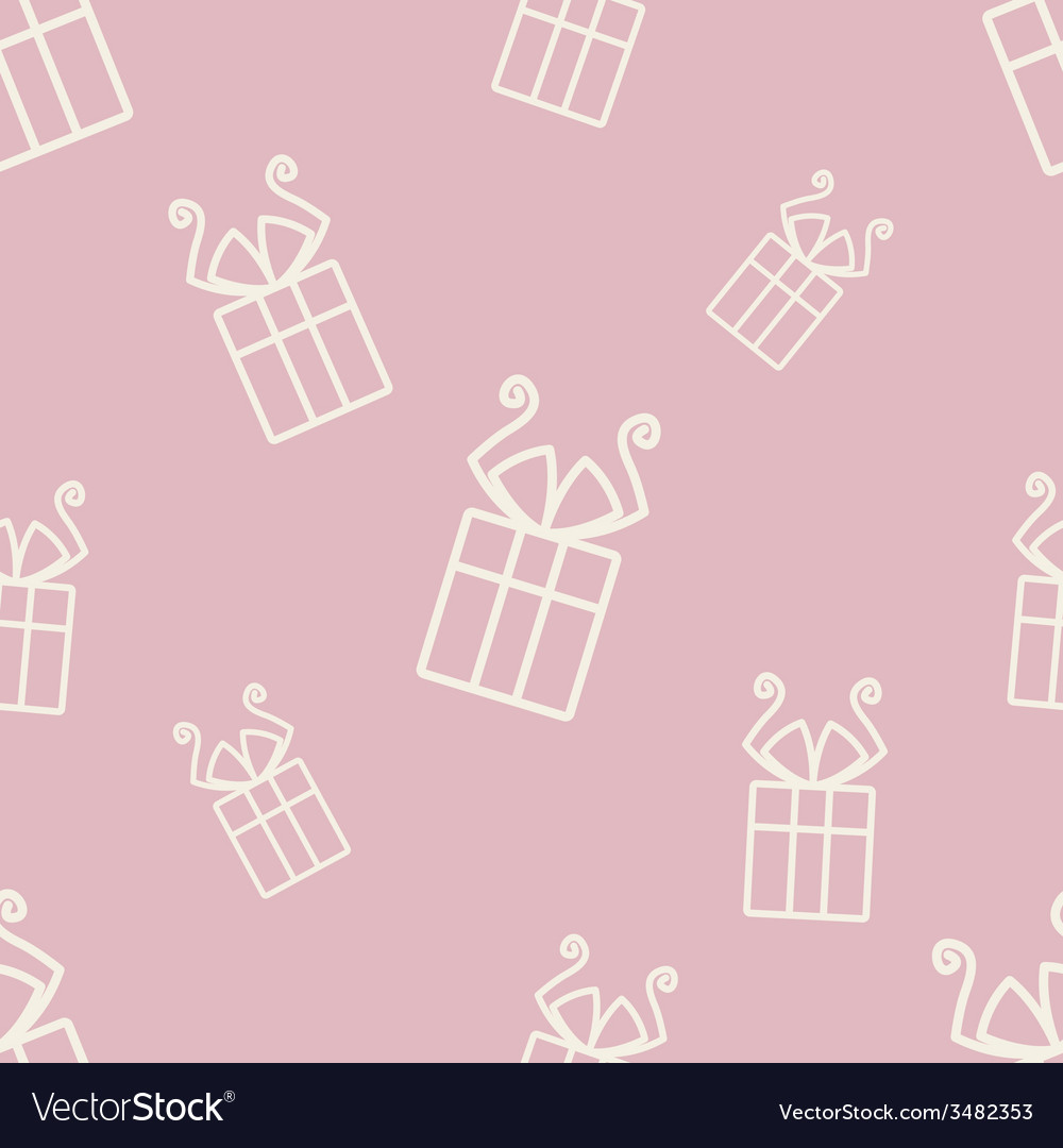 Gift pattern five vector