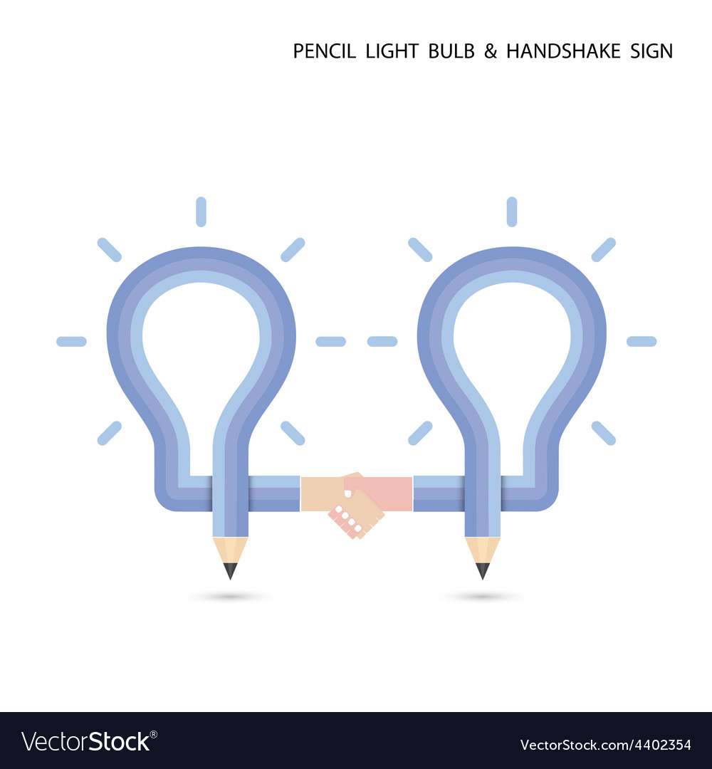 Pencil and light bulb vector