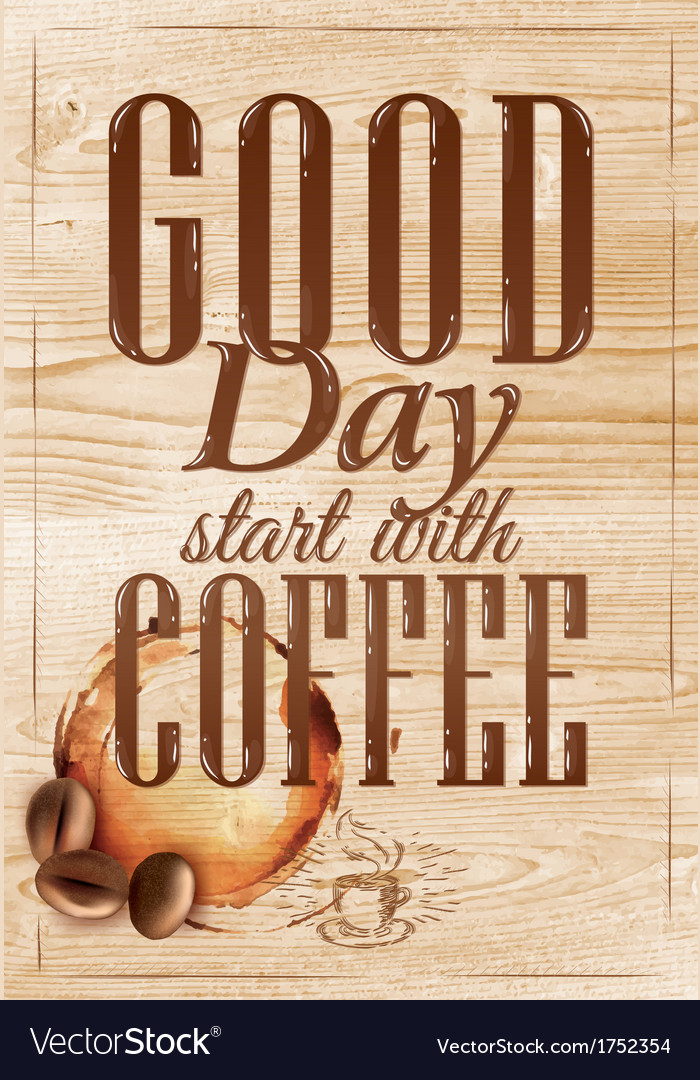 Poster grain coffee 1 vector