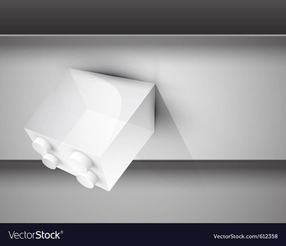 Toy block background vector