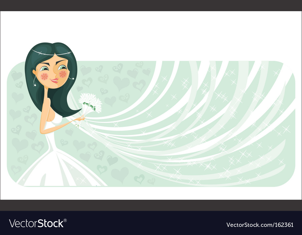 Bride banner vector