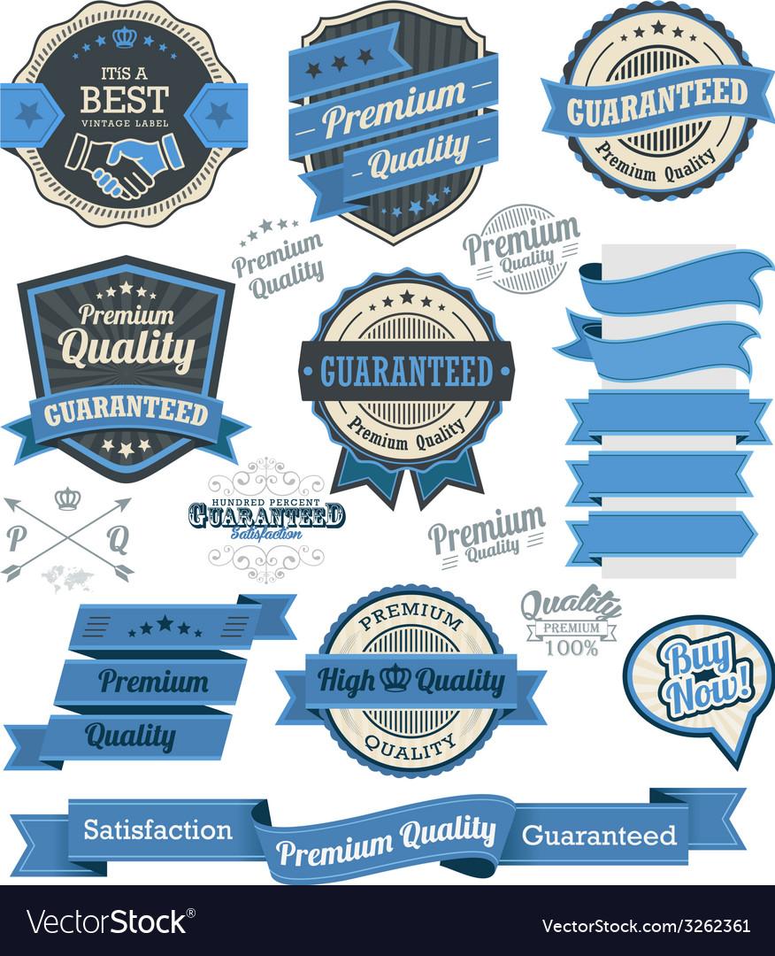 Set of vintage badges and design elements vector
