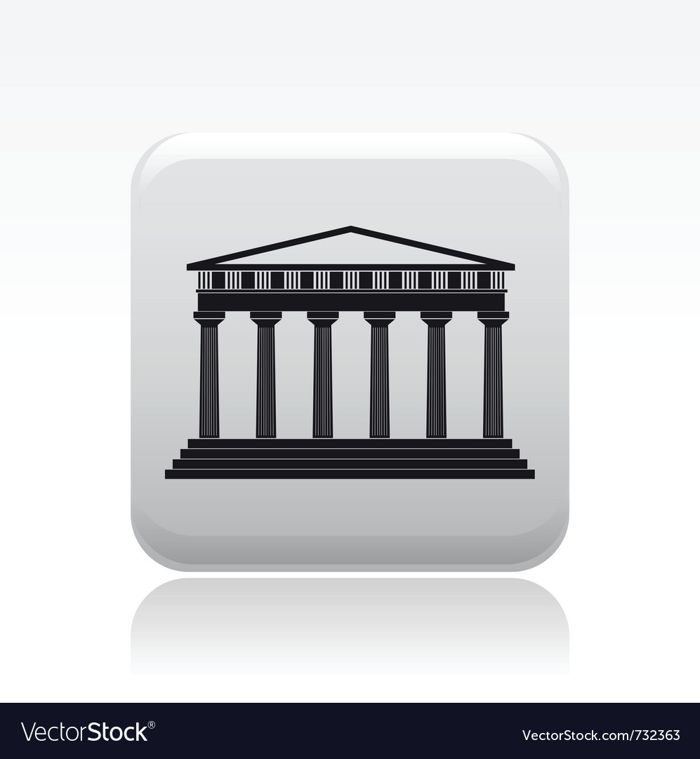 Single temple icon vector