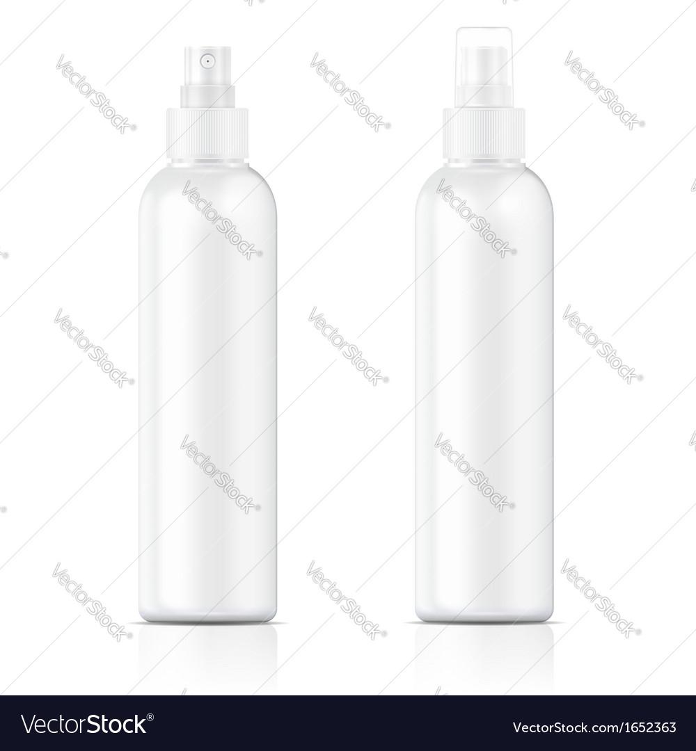 White sprayer bottle template vector