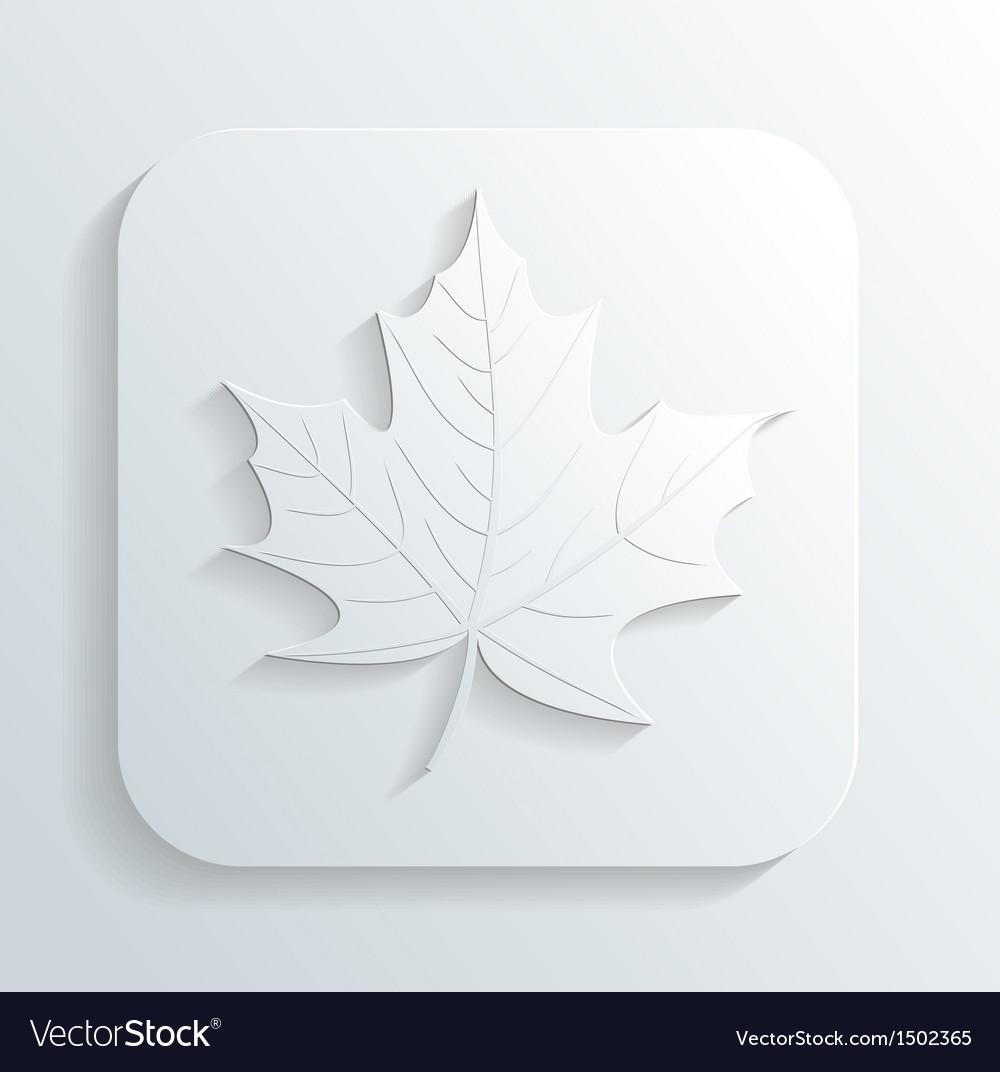 Autumn leaf icon vector