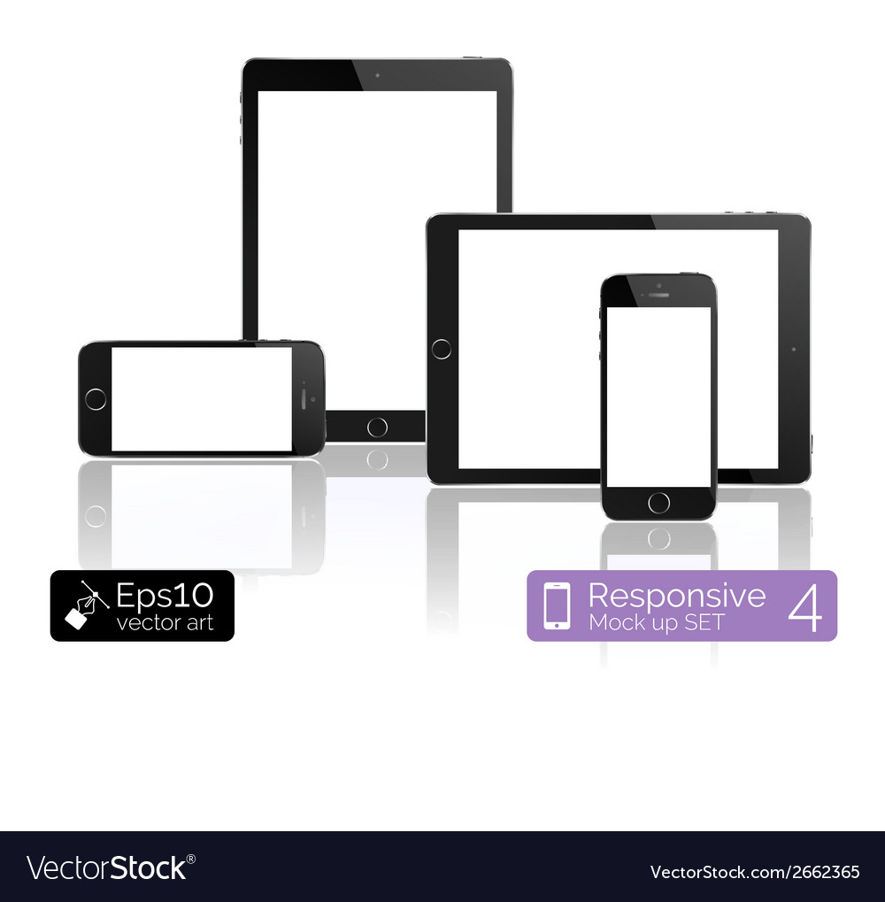 Modern tablet pc computer isolation on white vector