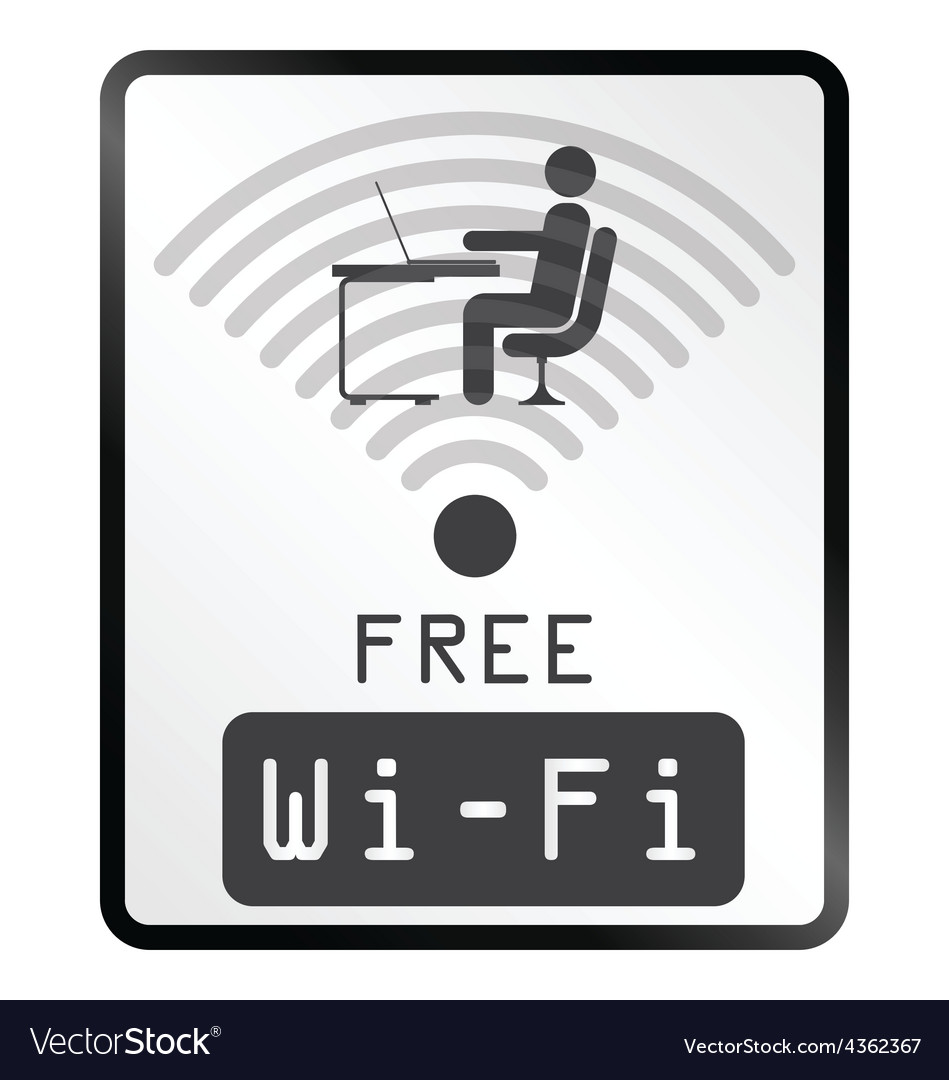 Free wifi sign vector