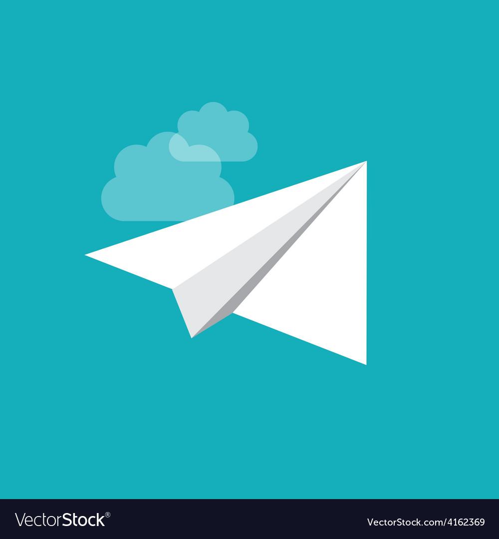 Origami plane vector