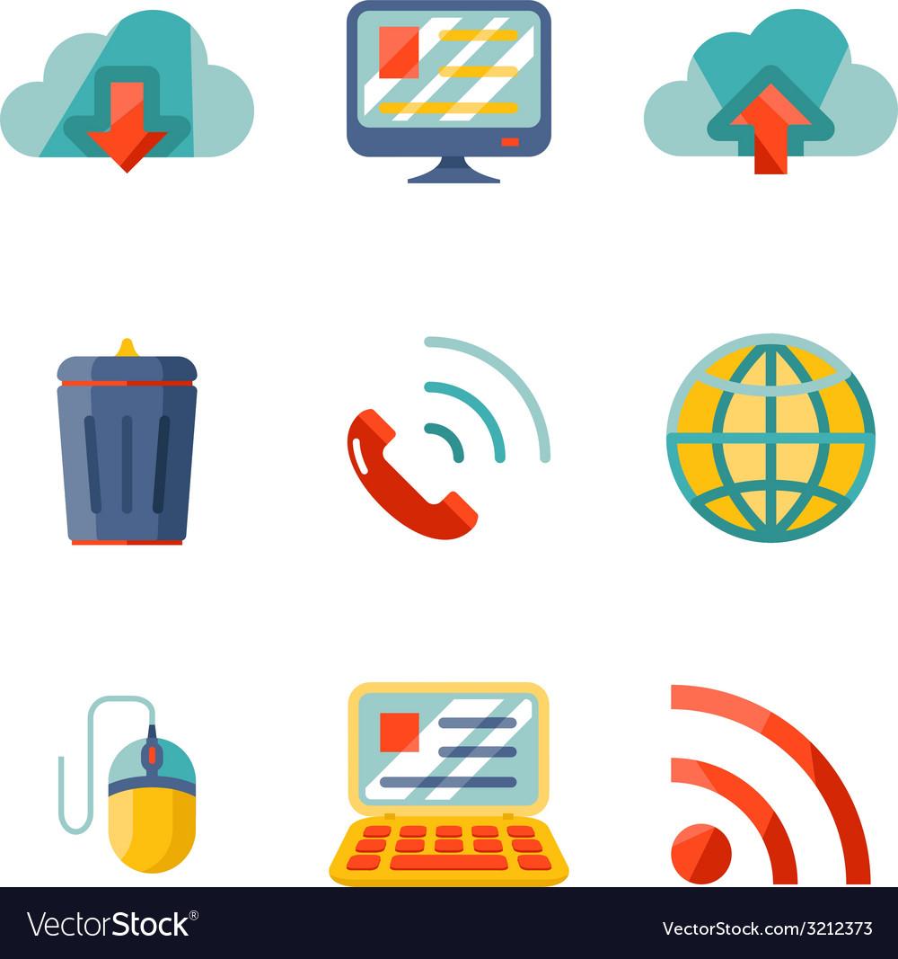 Modern flat design internet network communication vector