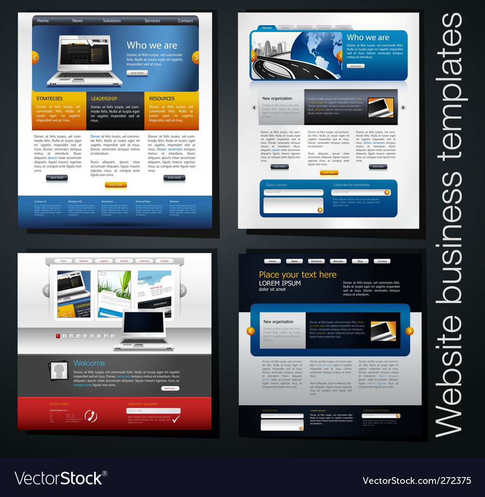 Website set vector