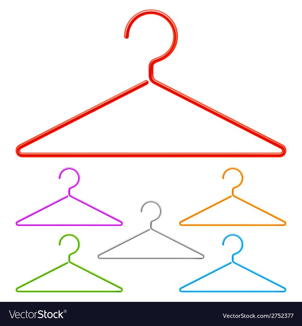 Color hangers vector